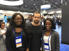 Jack Dorsey, CEO of twitter at the career fair.
