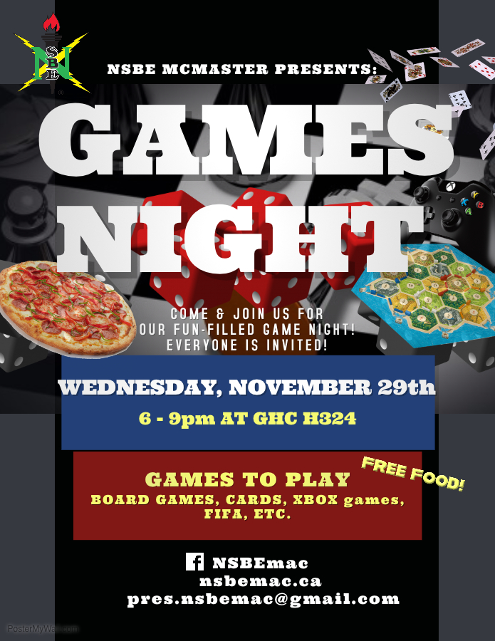 Copy of Game Night Flyer Template - NSBE McMaster